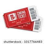 two cinema vector tickets... | Shutterstock .eps vector #1017766483