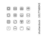 square outline icons