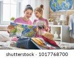 go on an adventure  happy... | Shutterstock . vector #1017768700