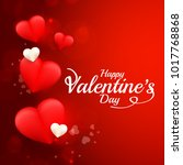 illustration of valentines day... | Shutterstock .eps vector #1017768868