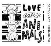 vegan lettering concept. save... | Shutterstock .eps vector #1017771730