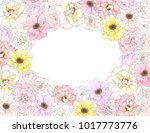 rectangle card of colorful... | Shutterstock .eps vector #1017773776