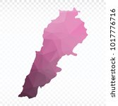 map polygonal lebanon map.... | Shutterstock .eps vector #1017776716