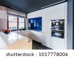 oven built in white cabinets... | Shutterstock . vector #1017778006