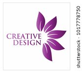 leaf vector logo design template | Shutterstock .eps vector #1017778750