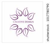 leaf vector logo design template | Shutterstock .eps vector #1017780790