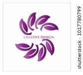leaf vector logo design template   Shutterstock .eps vector #1017780799
