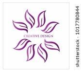 leaf vector logo design template | Shutterstock .eps vector #1017780844