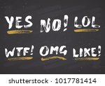 yes  no  like  lol  omg and wtf ... | Shutterstock .eps vector #1017781414