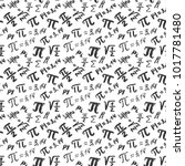 pi symbol seamless pattern... | Shutterstock .eps vector #1017781480
