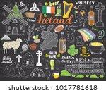 ireland sketch doodles. hand... | Shutterstock .eps vector #1017781618