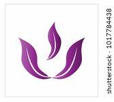 leaf vector logo design template | Shutterstock .eps vector #1017784438