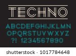 geometric technology font...   Shutterstock .eps vector #1017784648