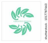 leaf vector logo design template | Shutterstock .eps vector #1017787663