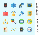 icons about business with... | Shutterstock .eps vector #1017790270