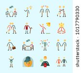 icons about human with walker ... | Shutterstock .eps vector #1017790330