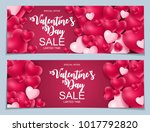 valentines day sale  discont... | Shutterstock . vector #1017792820