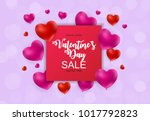 valentine s day heart love and... | Shutterstock . vector #1017792823