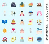 icons about wedding with bride  ... | Shutterstock .eps vector #1017794446