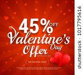 illustration of valentines day...   Shutterstock .eps vector #1017795616