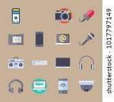 icons devices with medicine ... | Shutterstock .eps vector #1017797149