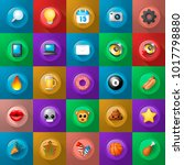 set of icons on buttons on... | Shutterstock .eps vector #1017798880
