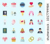 icons about wedding with...   Shutterstock .eps vector #1017799984
