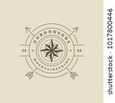 expedition logo emblem vector... | Shutterstock .eps vector #1017800446