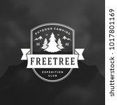 forest camping logo emblem... | Shutterstock .eps vector #1017801169