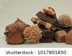 different sorts of chocolates ... | Shutterstock . vector #1017801850