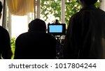 behind the scenes of video... | Shutterstock . vector #1017804244
