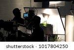 behind the scenes of video... | Shutterstock . vector #1017804250