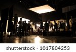 behind the scenes of video... | Shutterstock . vector #1017804253