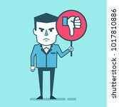 dissatisfied businessman holds... | Shutterstock .eps vector #1017810886