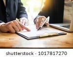 administrator business man... | Shutterstock . vector #1017817270