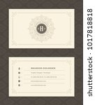 luxury business card and... | Shutterstock .eps vector #1017818818