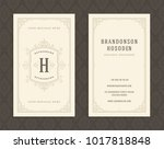 luxury business card and... | Shutterstock .eps vector #1017818848