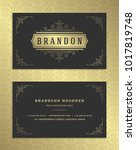 luxury business card and golden ... | Shutterstock .eps vector #1017819748