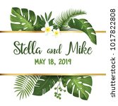 save the date card with... | Shutterstock .eps vector #1017822808