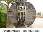 naked switches braker unsafe...   Shutterstock . vector #1017823438