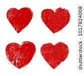 grunge love symbol.vector heart ...   Shutterstock .eps vector #1017824008