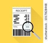 magnifying glass with a receipt ... | Shutterstock .eps vector #1017828448