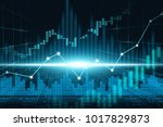 stock market or forex trading... | Shutterstock . vector #1017829873