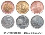 full set of czech coins... | Shutterstock . vector #1017831100