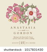 wedding marriage invitation.... | Shutterstock .eps vector #1017831430