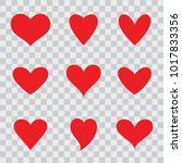 vector hearts set   Shutterstock .eps vector #1017833356