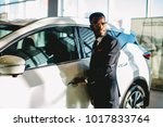 young african american driver... | Shutterstock . vector #1017833764