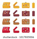 back side front view of leather ... | Shutterstock .eps vector #1017835006
