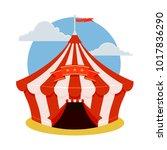 circus tent icon. cartoon... | Shutterstock .eps vector #1017836290