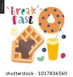 love  spring  breakfast... | Shutterstock .eps vector #1017836560